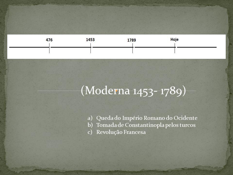 Séc.XVI ao séc. XVIII. Renascença. Descoberta do Novo Mundo.