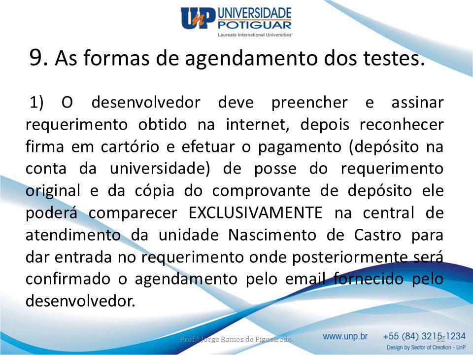 1) O desenvolvedor deve preencher e assinar requerimento obtido na internet, depois reconhecer firma em cartório e efetuar o pagamento (depósito na co