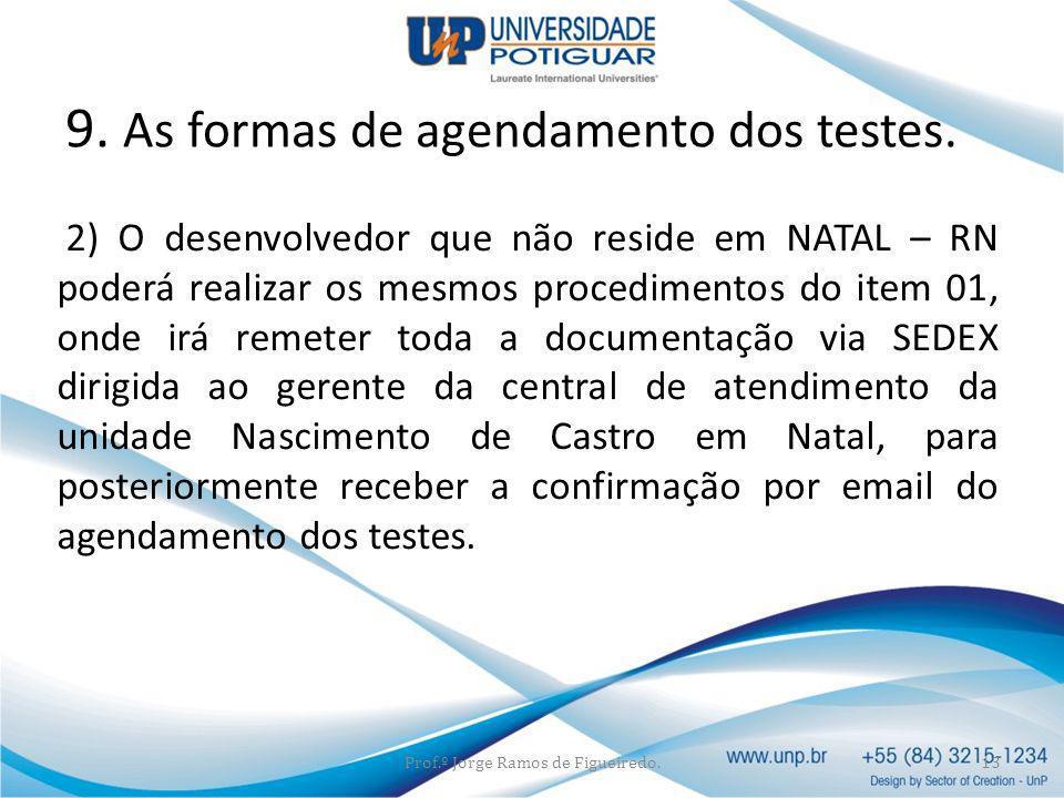 2) O desenvolvedor que não reside em NATAL – RN poderá realizar os mesmos procedimentos do item 01, onde irá remeter toda a documentação via SEDEX dir