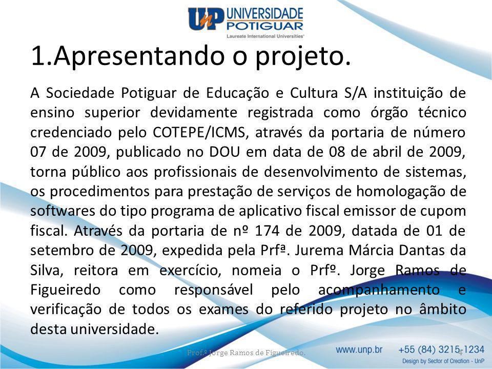 Favorecido: Sociedade Potiguar de Educação e Cultura S/A CNPJ.: 08.480.071/0001-40 Banco do Brasil 001 Agência 4361-3 Conta 9155-3 Prof.º Jorge Ramos de Figueiredo.15 Dados da conta da UNP para depósito.