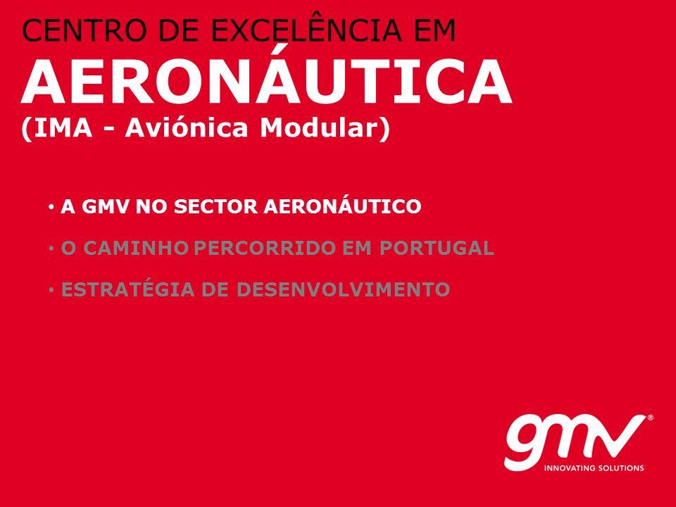 © GMV, 2010 AERONÁUTICA (IMA - Aviónica Modular) CENTRO DE EXCELÊNCIA EM A GMV NO SECTOR AERONÁUTICO O CAMINHO PERCORRIDO EM PORTUGAL ESTRATÉGIA DE DE