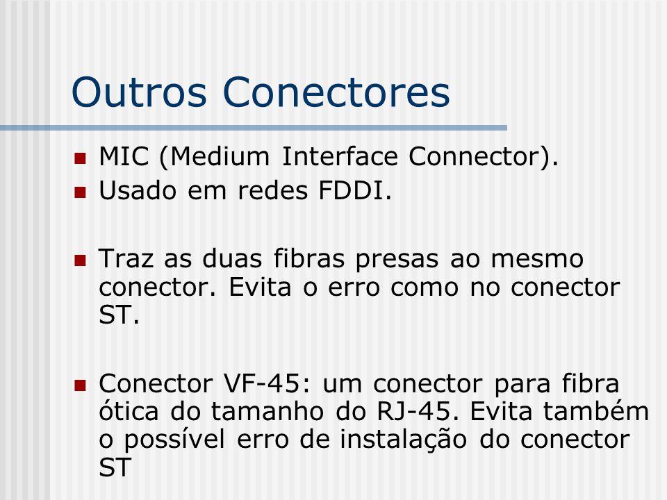 Outros Conectores MIC (Medium Interface Connector).
