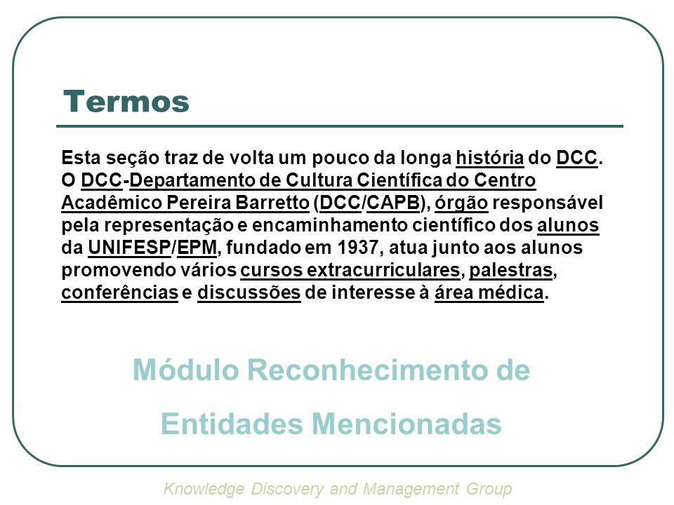 Termos Esta seção traz de volta um pouco da longa história do DCC. O DCC-Departamento de Cultura Científica do Centro Acadêmico Pereira Barretto (DCC/