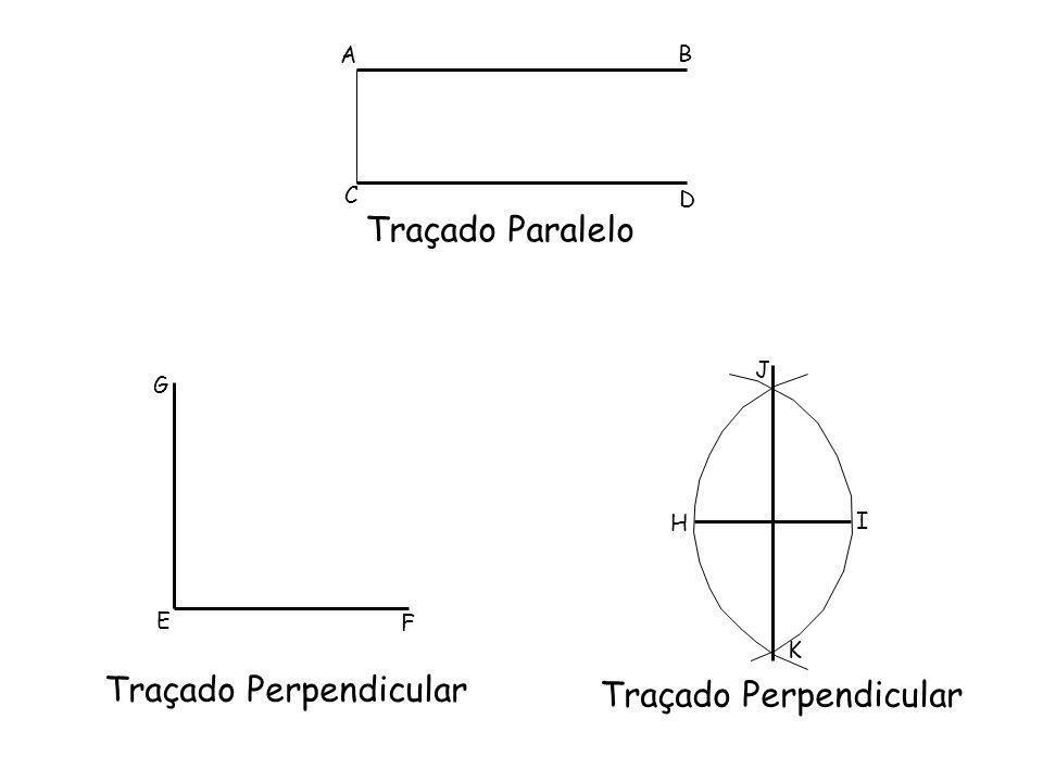 A B C D Traçado Paralelo G E F Traçado Perpendicular H I J K