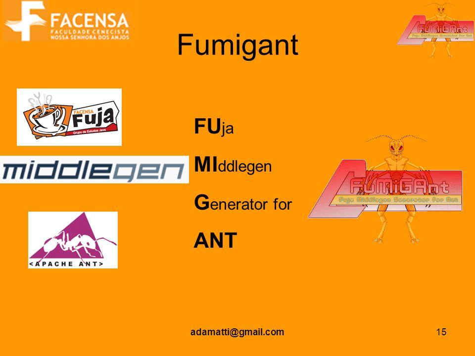 adamatti@gmail.com15 Fumigant FU ja MI ddlegen G enerator for ANT