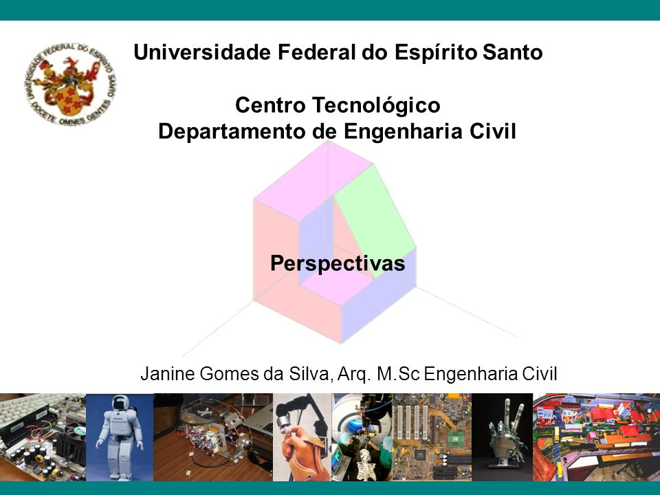 Universidade Federal do Espírito Santo Centro Tecnológico Departamento de Engenharia Civil Perspectivas Janine Gomes da Silva, Arq. M.Sc Engenharia Ci