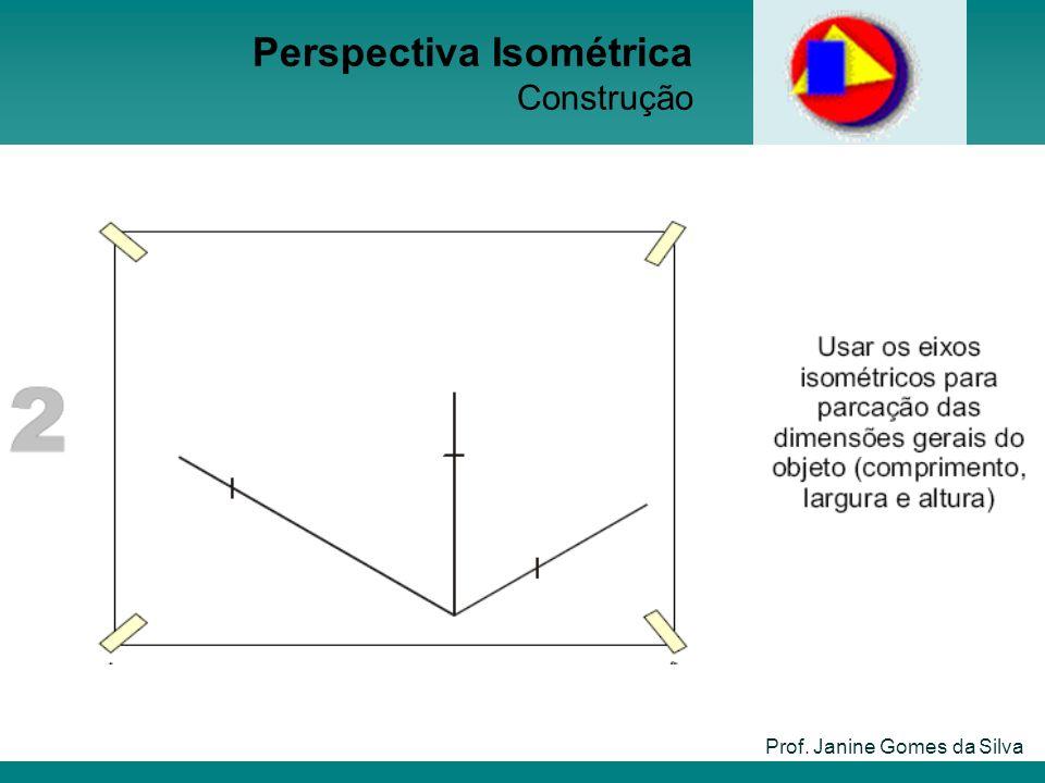 Prof. Janine Gomes da Silva Perspectiva Isométrica Construção