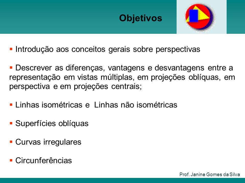Objetivos Prof. Janine Gomes da Silva Introdução aos conceitos gerais sobre perspectivas Descrever as diferenças, vantagens e desvantagens entre a rep