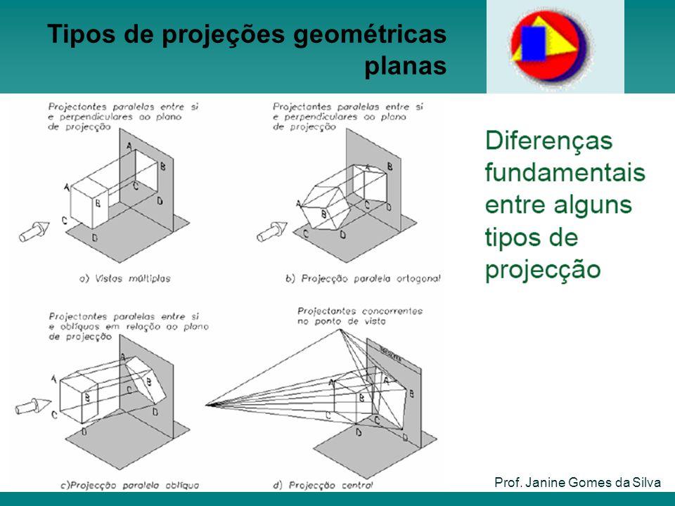 Tipos de projeções geométricas planas Prof. Janine Gomes da Silva