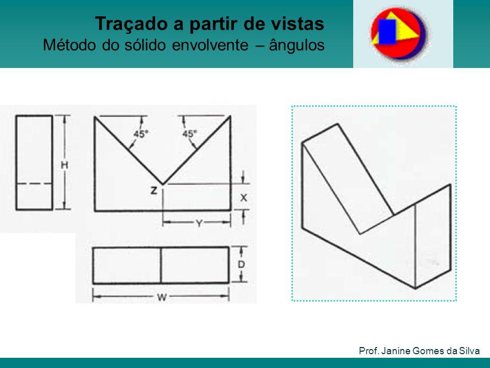 Prof. Janine Gomes da Silva Traçado a partir de vistas Método do sólido envolvente – ângulos