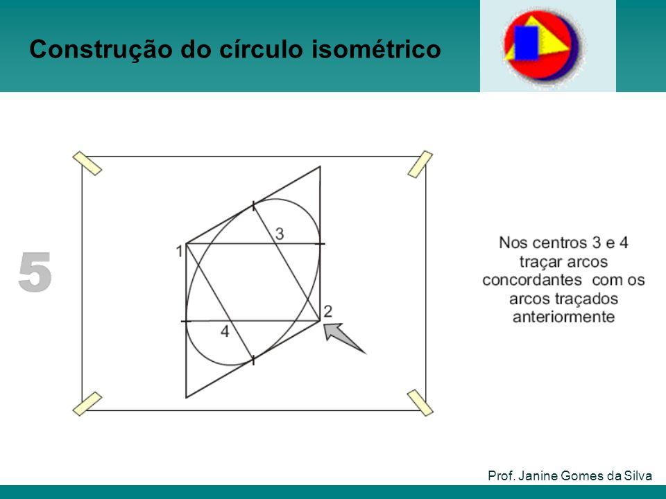 Construção do círculo isométrico Prof. Janine Gomes da Silva
