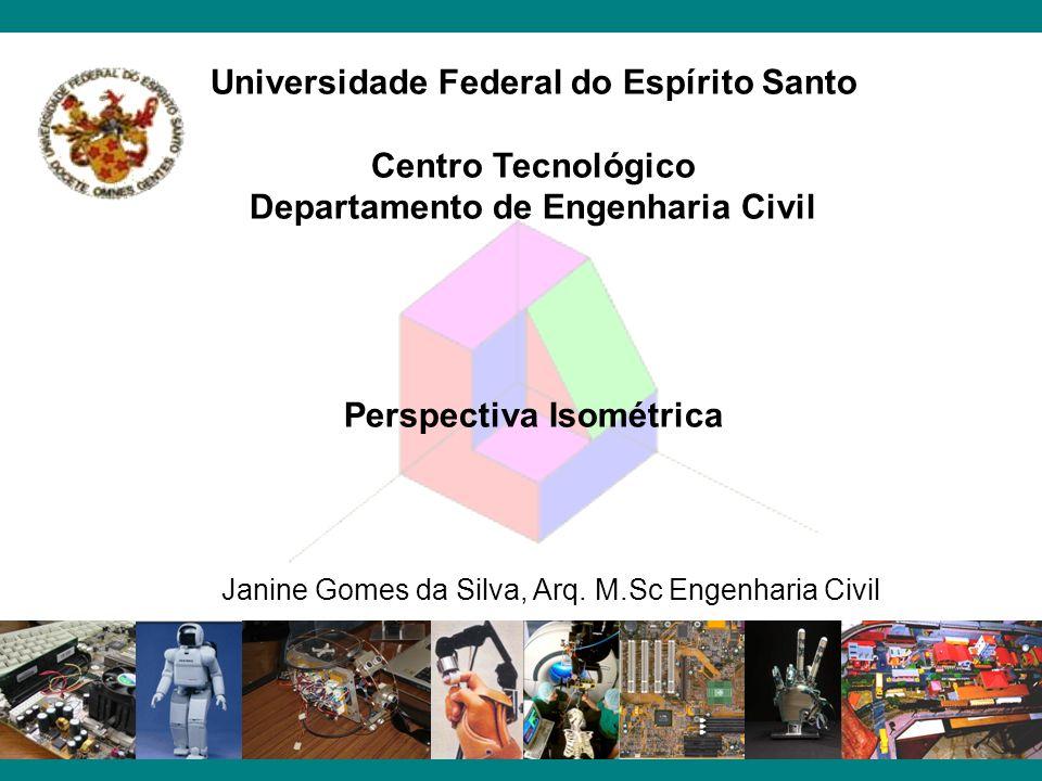 Universidade Federal do Espírito Santo Centro Tecnológico Departamento de Engenharia Civil Perspectiva Isométrica Janine Gomes da Silva, Arq. M.Sc Eng