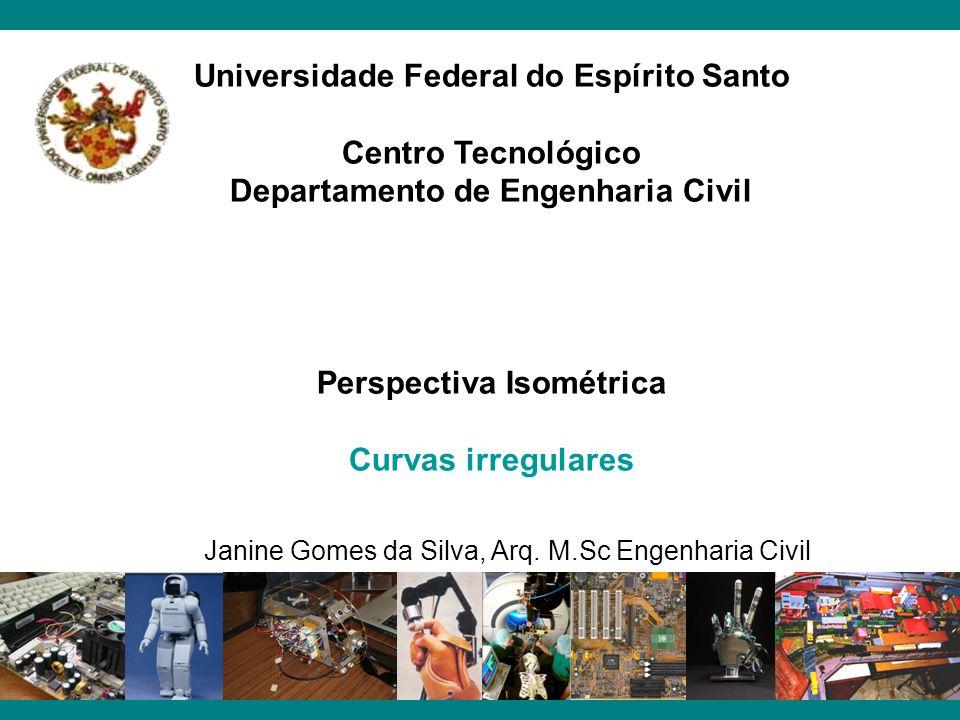 Universidade Federal do Espírito Santo Centro Tecnológico Departamento de Engenharia Civil Perspectiva Isométrica Curvas irregulares Janine Gomes da S