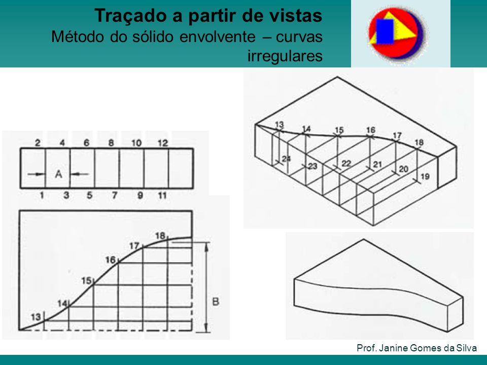Prof. Janine Gomes da Silva Traçado a partir de vistas Método do sólido envolvente – curvas irregulares