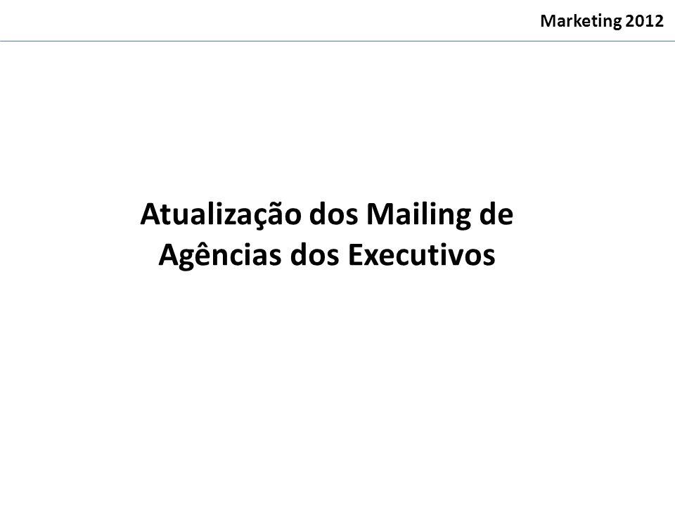 Atualização dos Mailing de Agências dos Executivos Marketing 2012