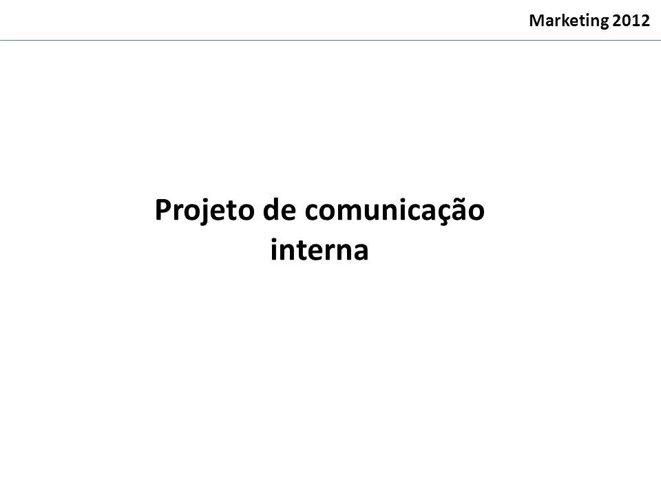 Projeto de comunicação interna Marketing 2012