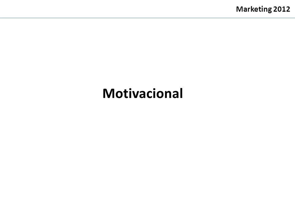Motivacional Marketing 2012