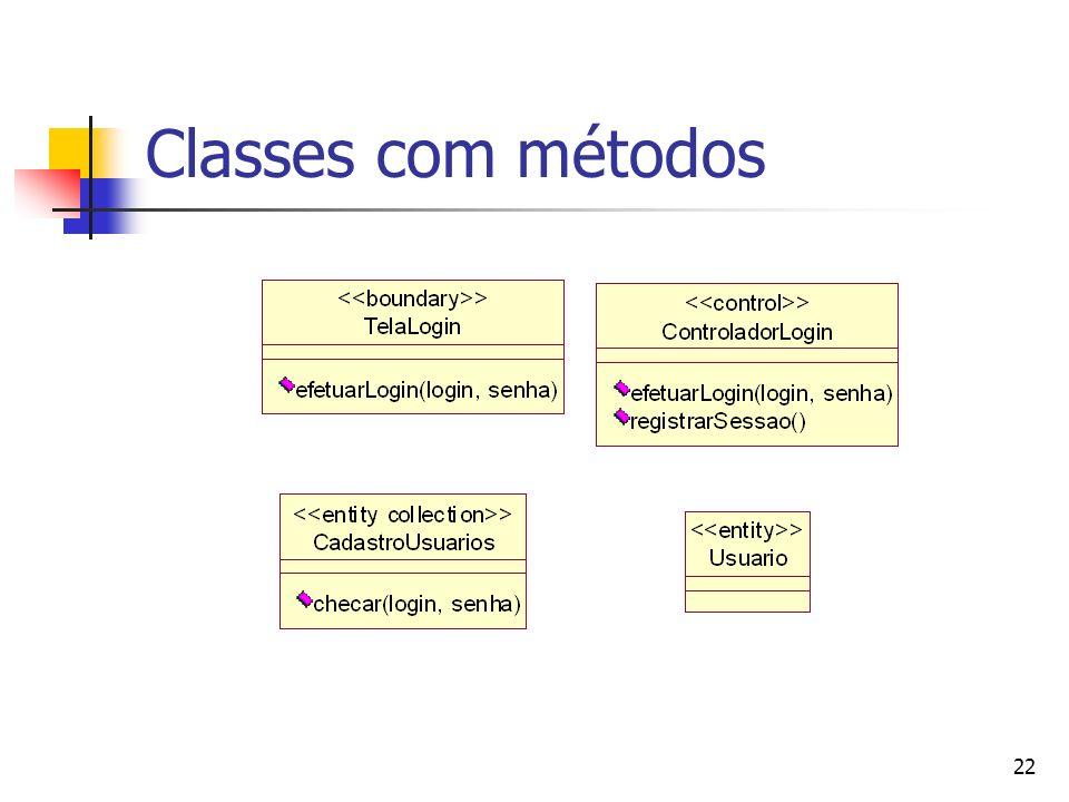 22 Classes com métodos