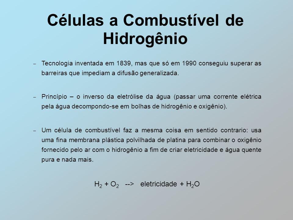 Células a Combustível de Hidrogênio – Tecnologia inventada em 1839, mas que só em 1990 conseguiu superar as barreiras que impediam a difusão generaliz