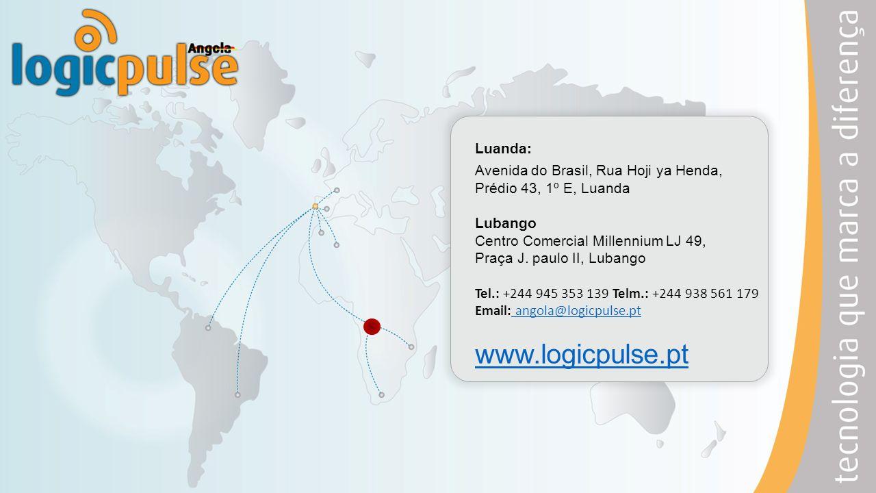 Luanda: Avenida do Brasil, Rua Hoji ya Henda, Prédio 43, 1º E, Luanda Lubango Centro Comercial Millennium LJ 49, Praça J. paulo II, Lubango Tel.: +244