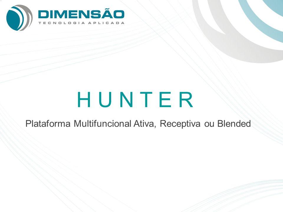 H U N T E R Plataforma Multifuncional Ativa, Receptiva ou Blended