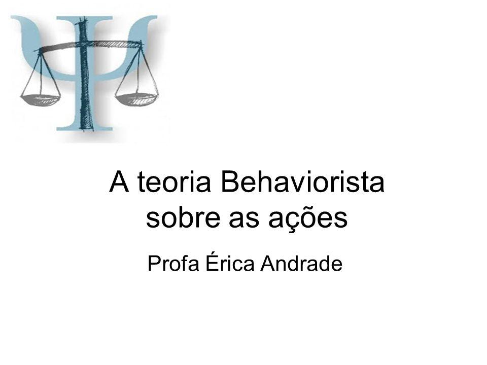 A teoria Behaviorista sobre as ações Profa Érica Andrade