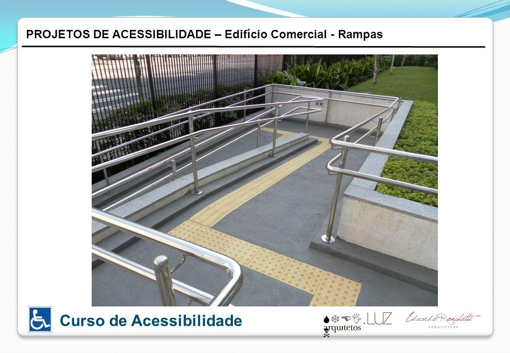 STEI N Curso de Acessibilidade PROJETOS DE ACESSIBILIDADE – Edifício Comercial - Rampas