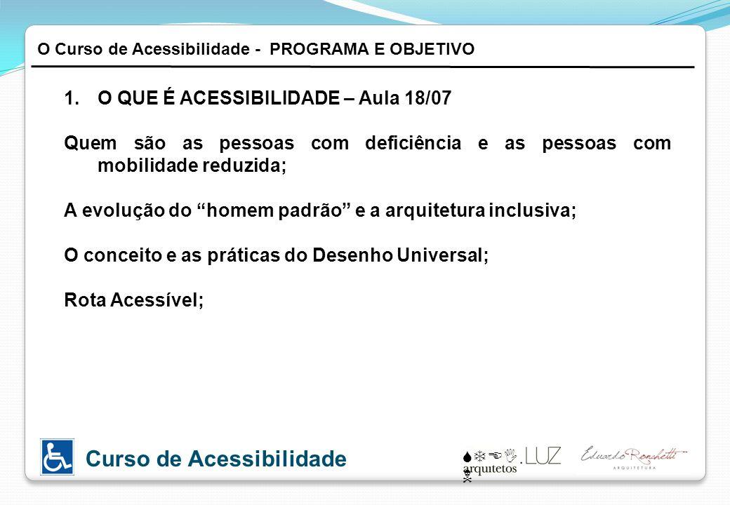 Das condições gerais da Acessibilidade Definições.