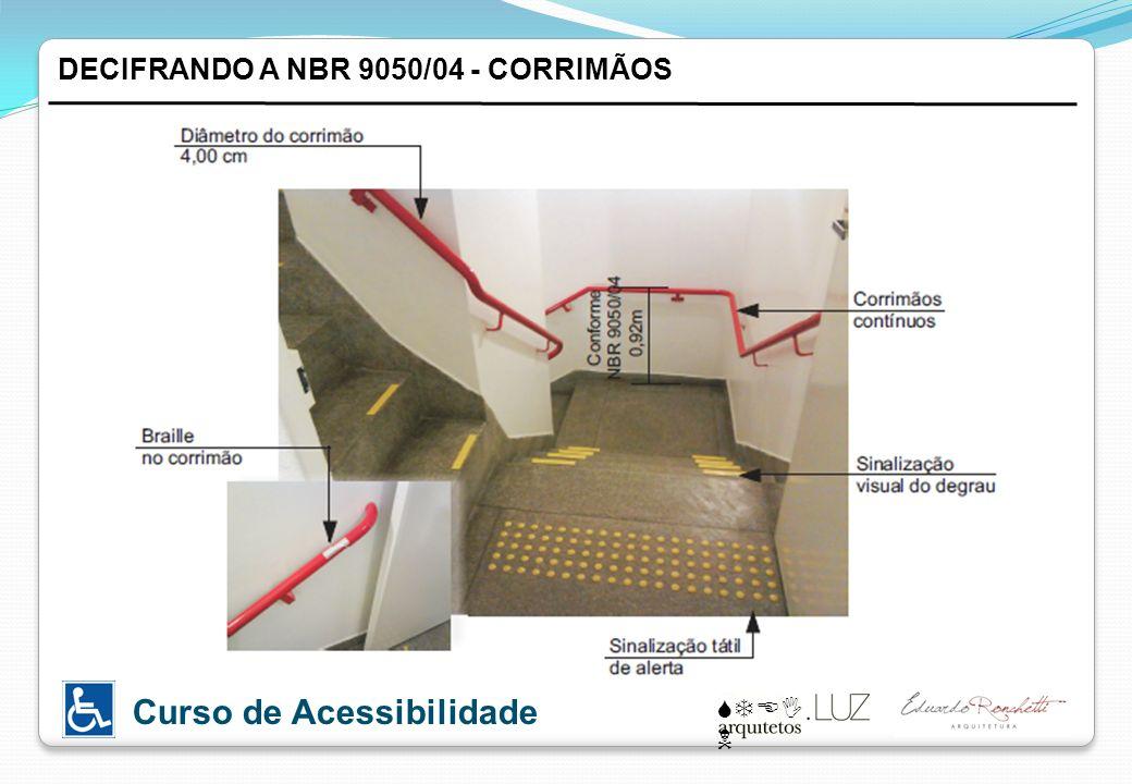 STEI N Curso de Acessibilidade DECIFRANDO A NBR 9050/04 - CORRIMÃOS
