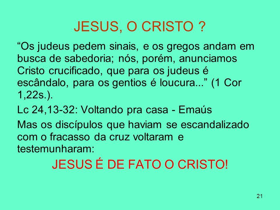 21 JESUS, O CRISTO .
