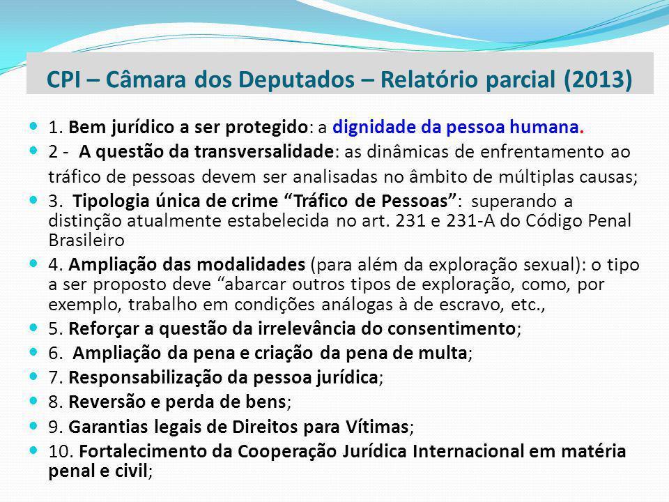 1. Bem jurídico a ser protegido: a dignidade da pessoa humana. 2 - A questão da transversalidade: as dinâmicas de enfrentamento ao tráfico de pessoas