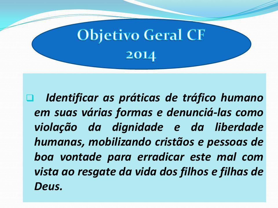 Identificar as práticas de tráfico humano em suas várias formas e denunciá-las como violação da dignidade e da liberdade humanas, mobilizando cristãos