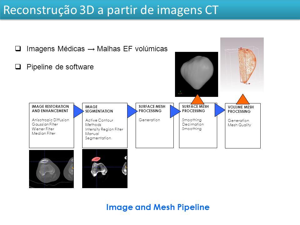 Modelação de estruturas anatómicas com Quádricas 3D modeling based on medical images (e.g., articular cartilages and body segments).