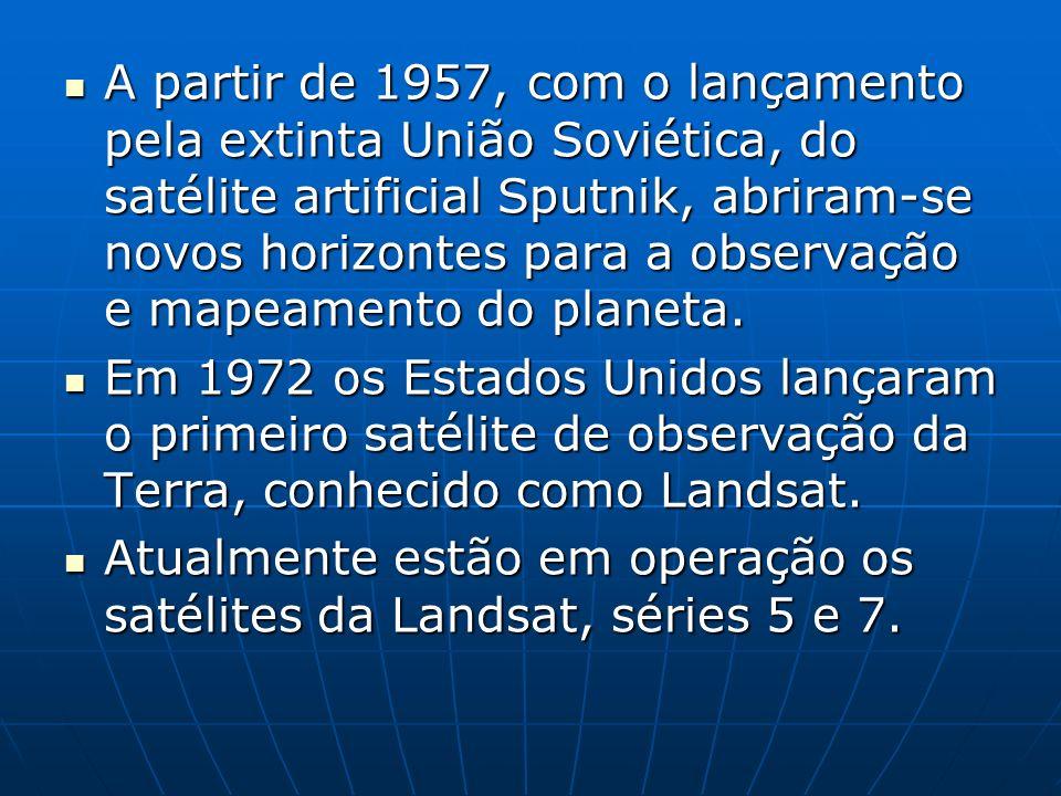 A partir de 1957, com o lançamento pela extinta União Soviética, do satélite artificial Sputnik, abriram-se novos horizontes para a observação e mapea
