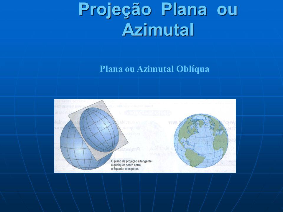 Projeção Plana ou Azimutal Plana ou Azimutal Oblíqua