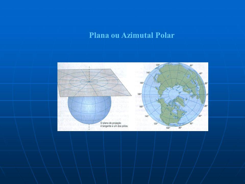 Plana ou Azimutal Polar