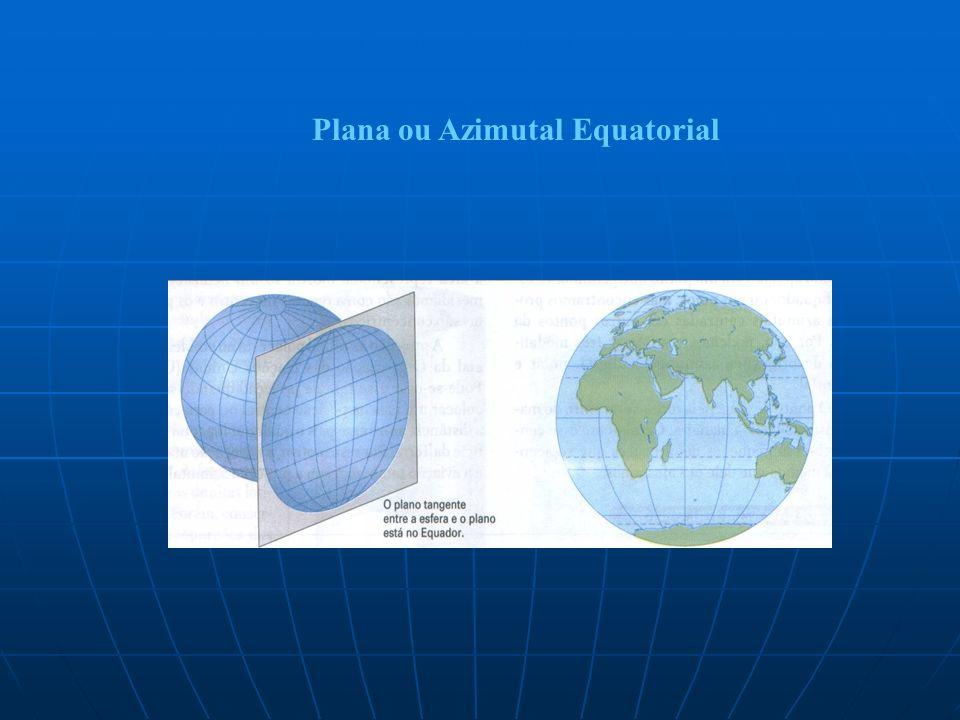 Plana ou Azimutal Equatorial