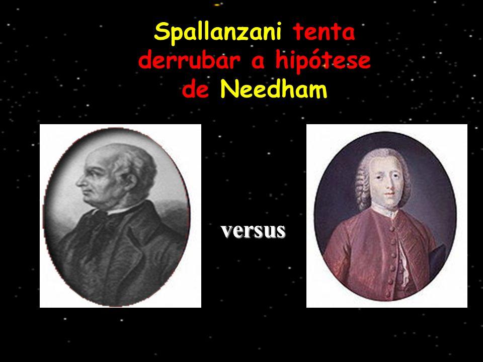 versus Spallanzani tenta derrubar a hipótese de Needham