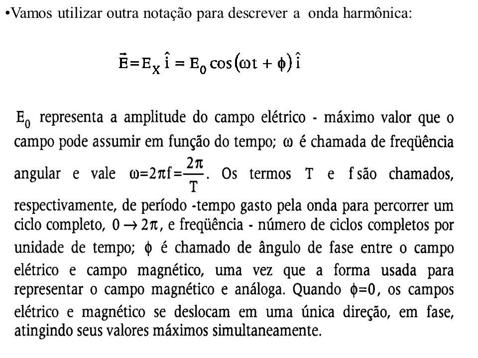 7 Vamos utilizar outra notação para descrever a onda harmônica:
