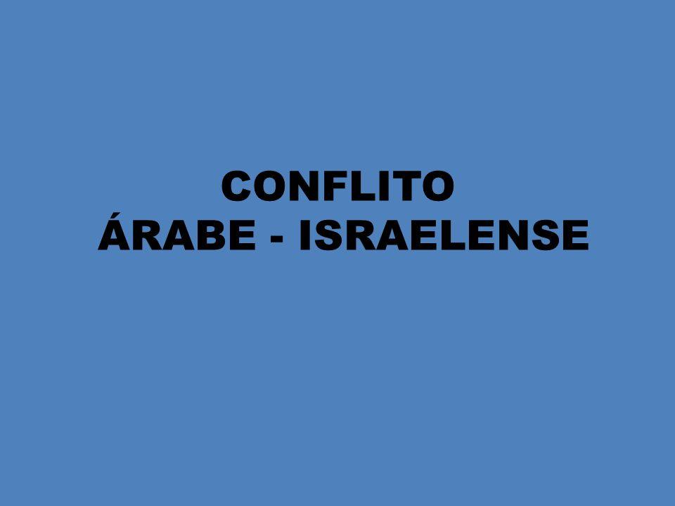 CONFLITO ÁRABE - ISRAELENSE