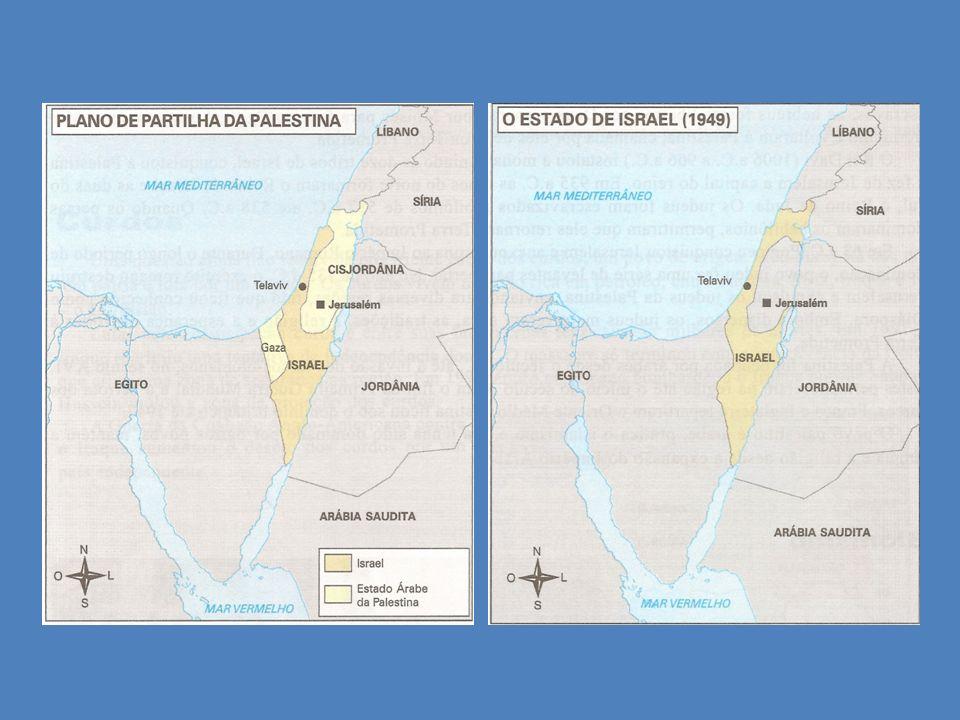 Em 1967, os árabes novamente se uniram para expulsar Israel, dando início à Guerra dos Seis Dias, na qual Israel derrotou Egito, Jordânia e Síria, anexando o Deserto do Sinai (Egito), as Colinas de Golã (Síria), a Cisjordânia (Jordânia) e Jerusalém, transformando-a na capital do país.