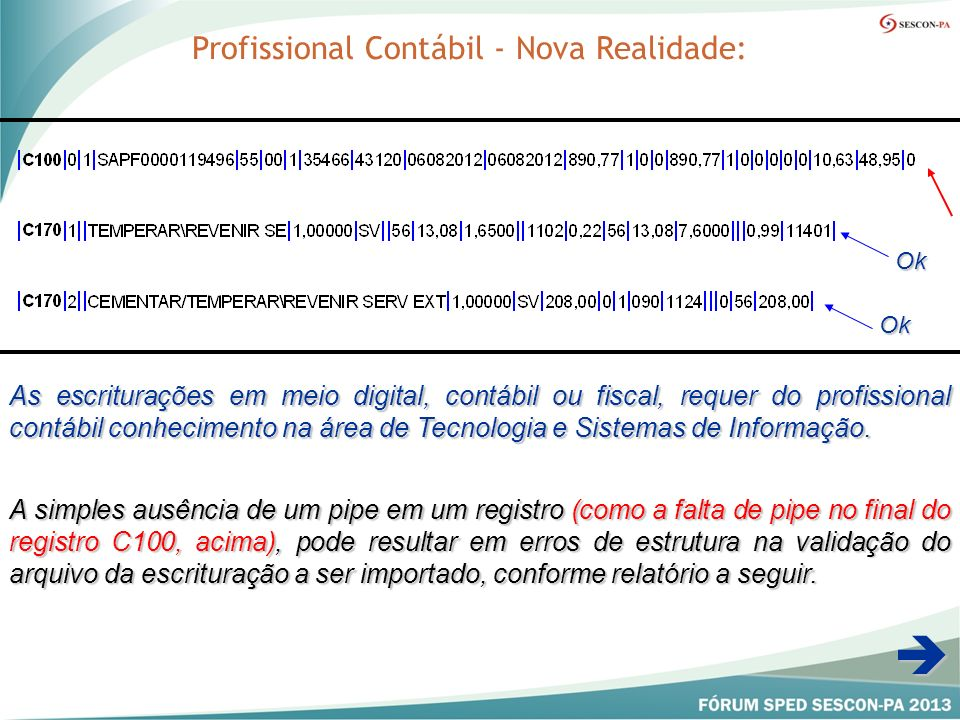 Profissional Contábil - Nova Realidade: As escriturações em meio digital, contábil ou fiscal, requer do profissional contábil conhecimento na área de Tecnologia e Sistemas de Informação.