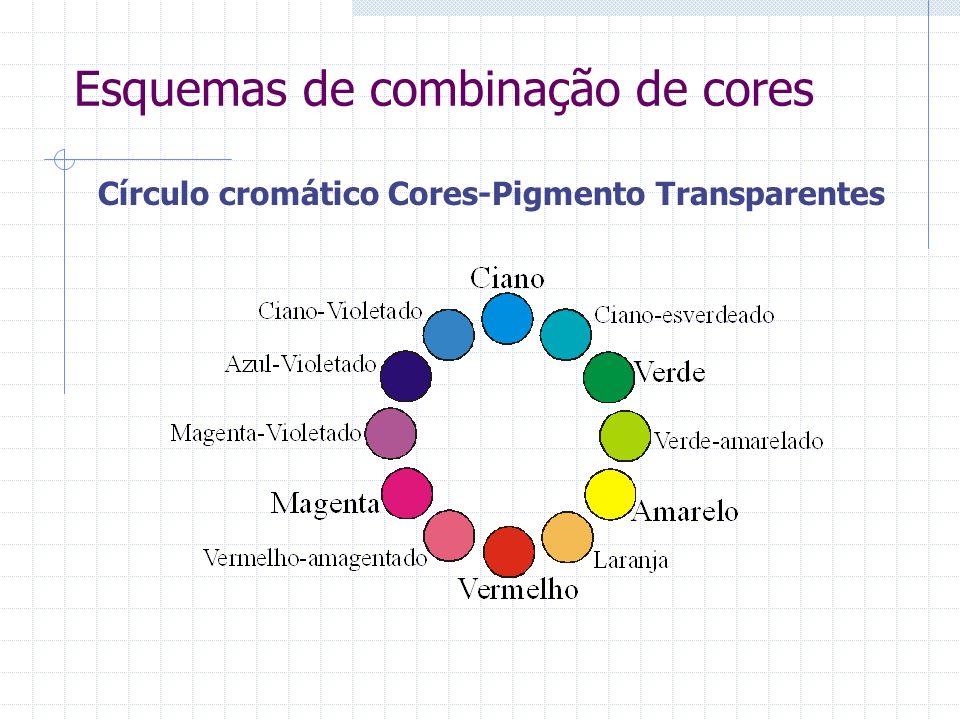 Esquemas de combinação de cores Círculo cromático Cores-Pigmento Transparentes