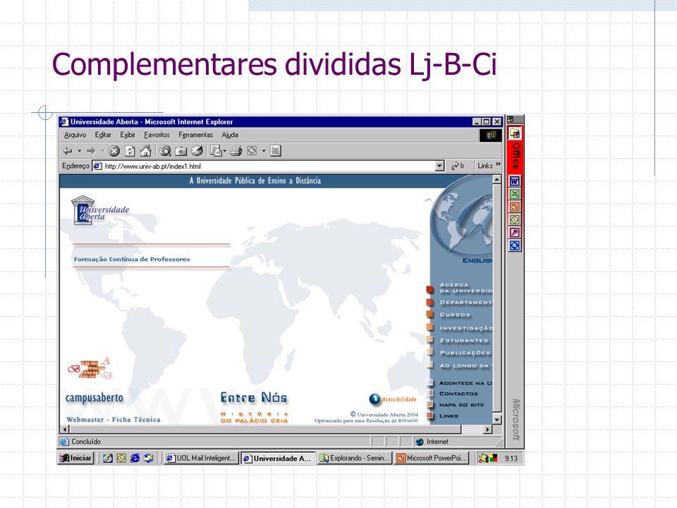 Complementares divididas Lj-B-Ci
