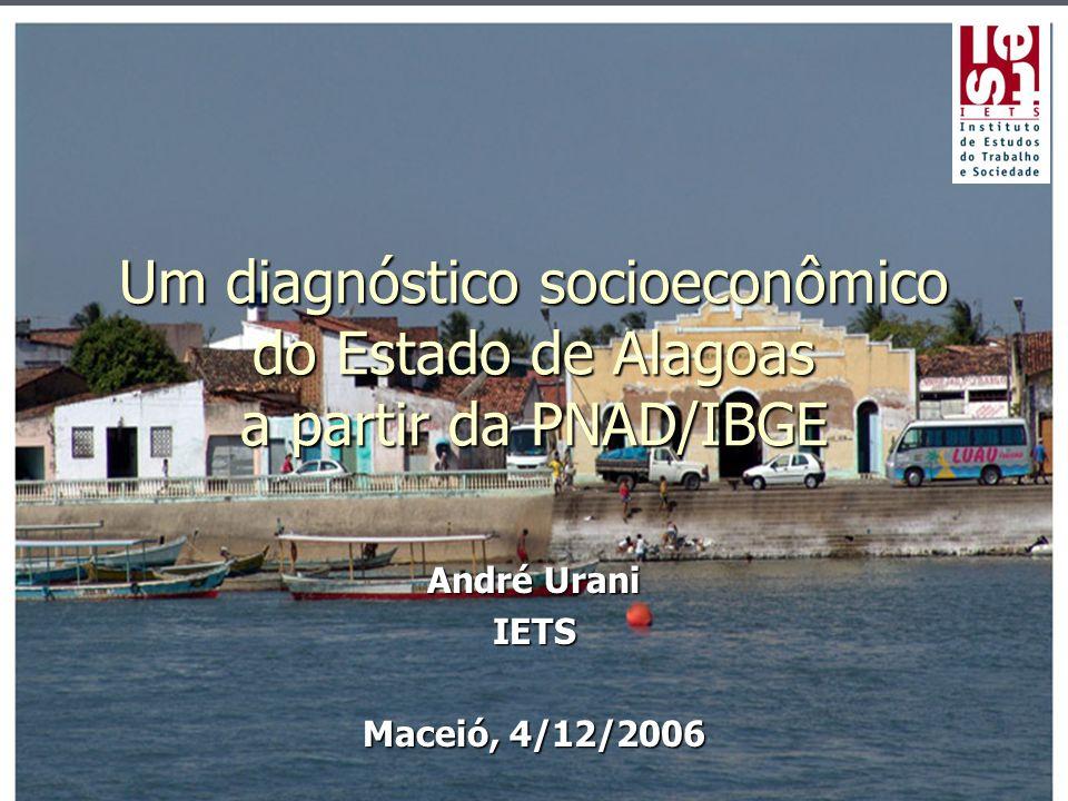 Um diagnóstico socioeconômico do Estado de Alagoas a partir da PNAD/IBGE André Urani IETS Maceió, 4/12/2006
