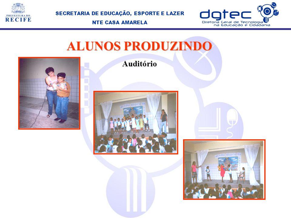 SECRETARIA DE EDUCAÇÃO, ESPORTE E LAZER NTE CASA AMARELA ALUNOS PRODUZINDO Auditório