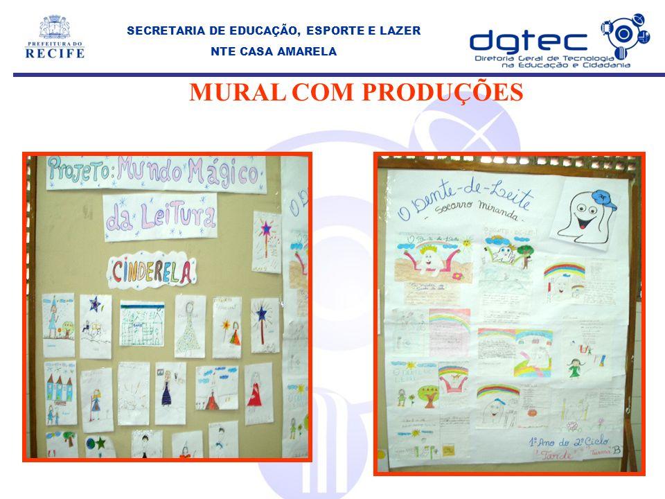 MURAL COM PRODUÇÕES SECRETARIA DE EDUCAÇÃO, ESPORTE E LAZER NTE CASA AMARELA