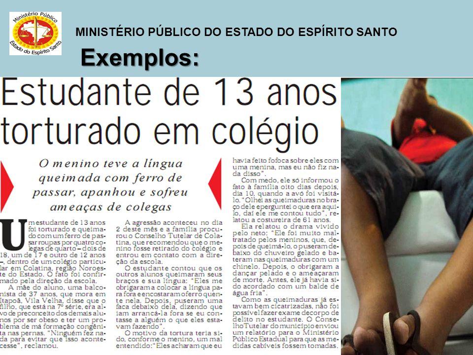MINISTÉRIO PÚBLICO DO ESTADO DO ESPÍRITO SANTO Exemplos: