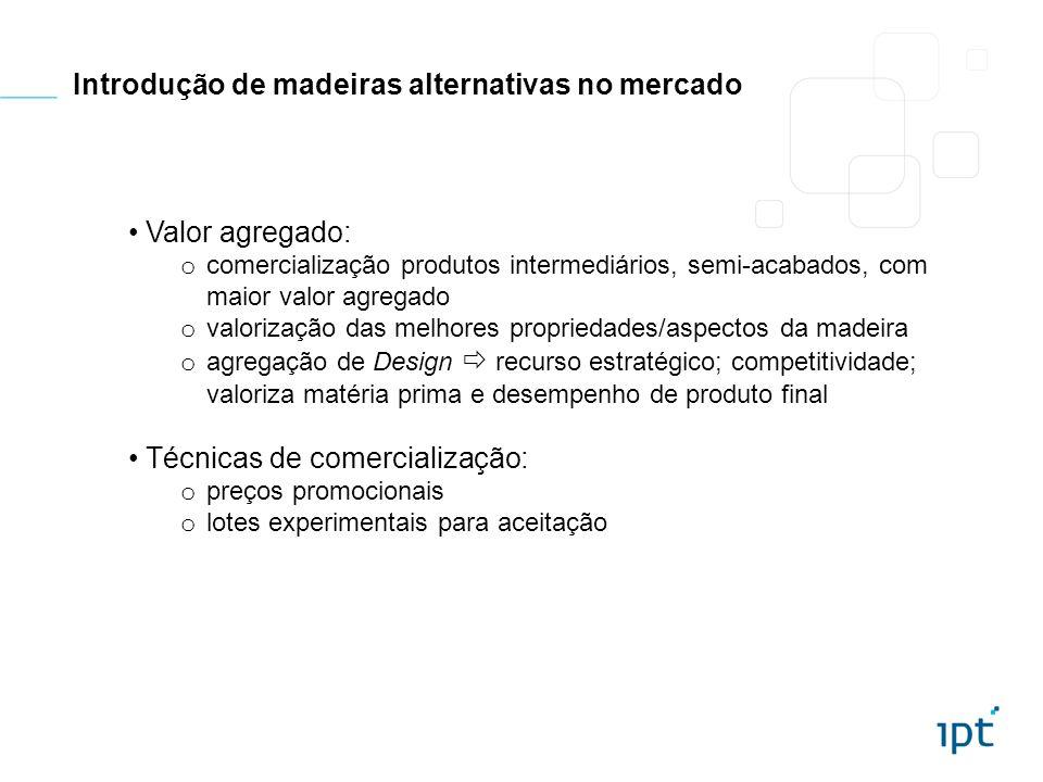Valor agregado: o comercialização produtos intermediários, semi-acabados, com maior valor agregado o valorização das melhores propriedades/aspectos da