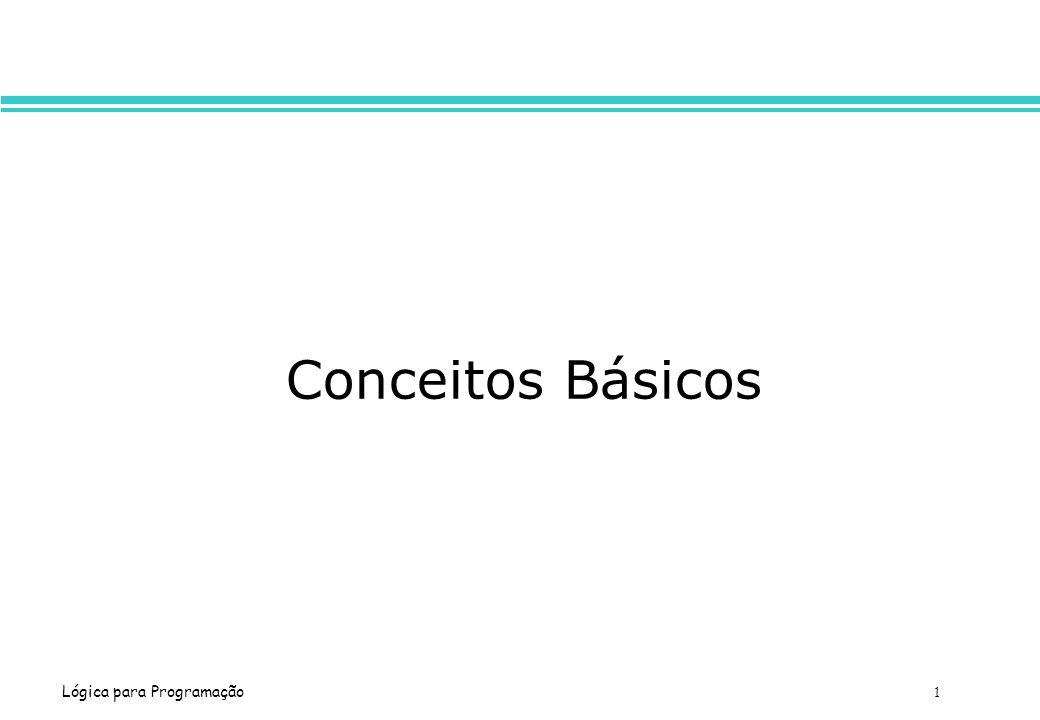 Lógica para Programação 1 Conceitos Básicos